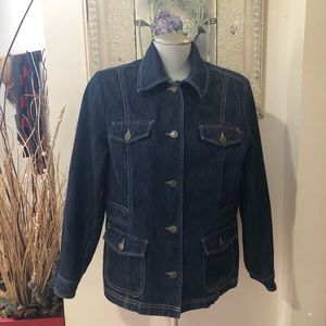 1990s Eddie Bauer Denim Field Jacket